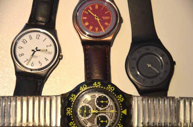 Orologi al quarzo. il meccanismo interno resta lo stesso ma il disegno